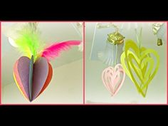 *Valentine's Day Crafts*: 3D Heart Ornaments! - YouTube
