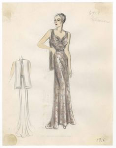 Bergdorf Goodman sketches : Gleason 1934-1936. 1934-1936. Metropolitan Museum of Art (New York, N.Y.). Costume Institute. Bergdorf Goodman sketches, 1929-1952 Costume Institute. #moment #summer |I love fashion more than I love anything else.