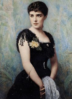 Jennie Jerome Churchill - c. 1870 ~ Winston Churchill's mother, another mistress of Edward VII when he was Prince of Wales (the royal roving eye has passed down from generation to generation).