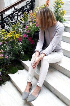 Szafa Minimalistki - zestawienia z mojej wiosennej capsule wardrobe #1 - Simplicite