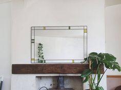 Mirror Brackets, Stained Glass Mirror, Purple Bathrooms, Broken Mirror, Art Deco Mirror, Paint Matching, Window Mirror, Small Mirrors, Paint Samples