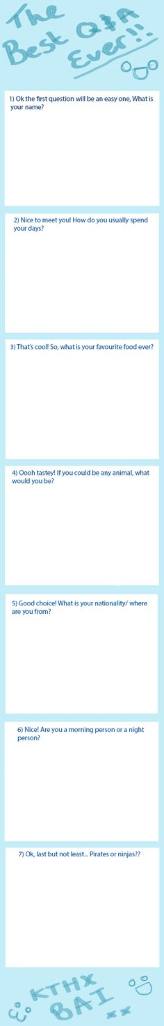 Q and A template by EchoMoXx