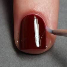 dip a small brush into acetone and get the perfect manicure look!