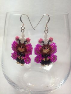 Baby Butterfly Brick Stitch Earrings by BeadingBeeCreations, $12.00
