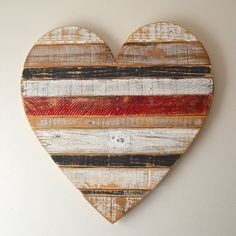 Reclaimed pallet wood heart, barn style, farm style, repurposed pallet wood, wall heart, hanging heart,hand painted wall decor, Valentine's