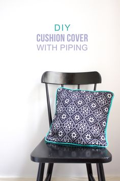 diy piped cushion tutorial