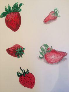 Strawberries by cindy phelan