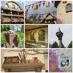 The Tangled Restroom in the Magic Kingdom is located in Fantasyland beside It's A Small World just before you enter into Liberty Square. If you loved the Tangled movie, you definitely need to plan on visiting these bathrooms!