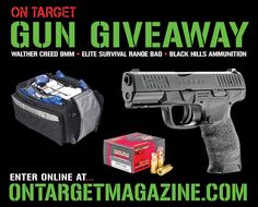 https://wn.nr/MpM4Xq   Win a Walther Creed 9mm pistol, Range Roller bag, and 500 rounds of Black Hills' new 125-gr. 9mm HoneyBadger ammo