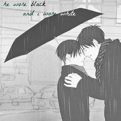 he wore black and i wore white