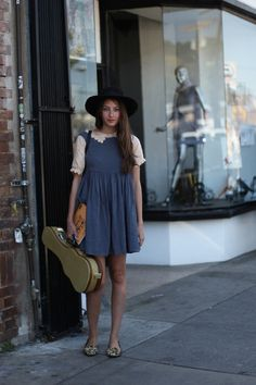 LA Street Style. Who says you can't tote around your necessities in a ukulele case? Exactly.