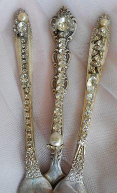 Bejeweled Vintage Forks