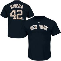 b60d58a19ec Majestic Mariano Rivera New York Yankees Camo Player T-Shirt - Navy Blue