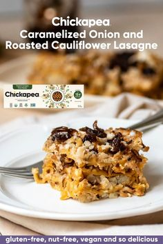 Double down on your protein with this absolutely scrumptious lasagne made with healthy and delicious Chickapea oven-ready Lasagne noodles and a tofu-based cream sauce. The prefect balance of savory noodles with sweet onion confit makes this a recipe to remember.