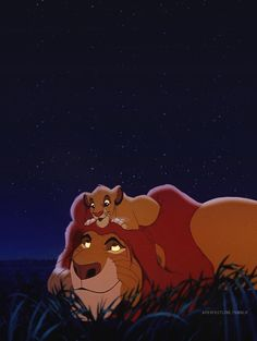 The Lion King--this scene is just so beautiful. The soundtrack behind it is gorgeous.