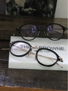Thom Browne. When my eyes eventually inevitably fail, these frames will be on my face.