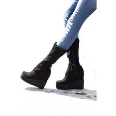 Jeffrey Campbell + Free People Womens VERGE PLATFORM WEDGE BOOT 7 MSRP 149.99 #JeffreyCampbellxFreePeople #MidCalfBoots