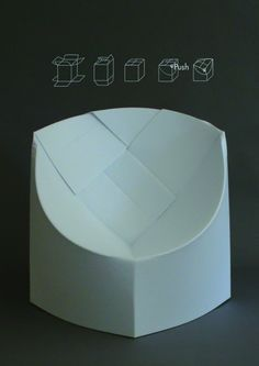 P3 - DIAMOND // CARDBOARD // CHAIR by Lia Tzimpili, via Behance ...