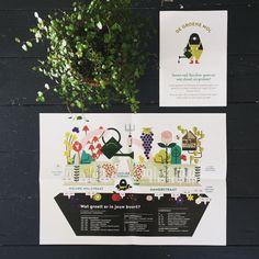 """Illustratie voor """"De Groene Mol"""":  het vergroeningsproject in het Oude Centrum van Den Haag #infographic"""