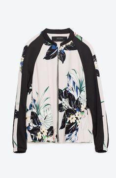 Zara | Floral printed bomber jacket