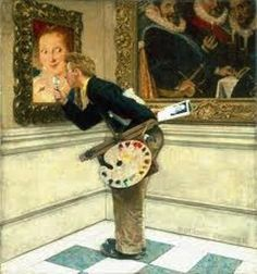The Art Critic, 1955 norman rockwell