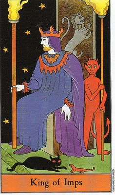 Halloween Tarot- King of Imps (Wands)    https://www.facebook.com/78Whispers