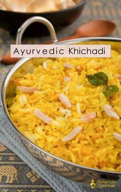 Ayurvedic Recipe for Spring - Khichadi   Khichadi (Also known as khichri, khichari or kitcheree) is the easiest solid food to digest. Ayurveda offers khichadi, a recipe that Ayurvedic experts consider a vital food for restoring balance.