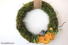 Chicken wire moss wreath