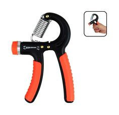 HeQiao Best Adjustable Hand Grip Strengthener Strength Training Hand Exerciser for Arm Exercise Fitness-Orange(Non-slip Gripper, Resistance 22-88 Lbs). Strength Rehabilitation: Ideal Arm Training Equipment for those are recoverying from a fractured, broken wrist or tendon surgery. Adjustable Resistance: Stainless steel tension springs of 2-88 pounds(10-40KG) resistance optional. Ergonomic Design: Slim shape fits for sizes of hands (male, female, seniors, teens). Non-slip Handle: Soft...