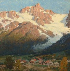 EDGAR PAYNE Peaks of the Argentiere Oil on Canvas...
