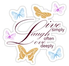 Live, Laugh, Love Butterflies stickers by pencreations