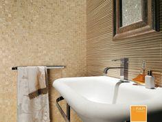 Meltin sabbia mosaico #naturalezza #bagno #personalità