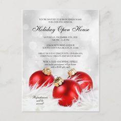 Elegant Business Holiday Open House invitation #holiday #open #house #invitation #store