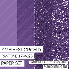 Glitter&Plain PAPER Amethyst Orchid PANTONE by Fashiontelligent