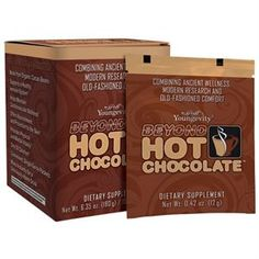 Hot chocolate that is healthy for you and your kids to drink! Youngevity - 90 For Life. Beyond Hot Chocolate - 15 Ct Box