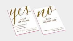 Fluorescent Pink Letterpress / Gold Foil / Custom Printed Tissue / Kraft Accents / Save the Date / Wedding Invitation Suite / Event Materials / Bliss & Bone