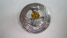 Vintage Sterling Silver Scottish Citrine by GlanYrAfonVintage