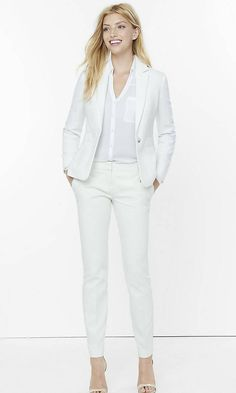 Ivory 24 Inch One Button Jacket from EXPRESS