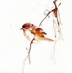 sparrow in watercolour - Sök på Google