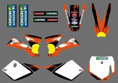 0251  New style Team  DECALS STICKERS Graphics Kits For KTM SX 50 2009 2010 2011 2012 2013 #Affiliate