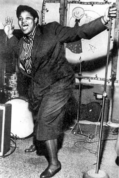 Big Mama Thornton. Phenomenal blues singer.  You aint nothin' but a hound dog as it should be sung!!!