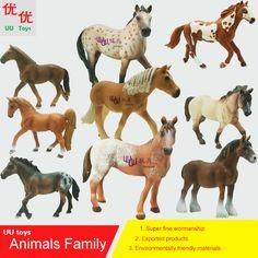 Hot toys: caballo de la familia paquete de modelo de simulación de animales para niños juguetes educativos para niños accesorios caballo figura figuras de acción