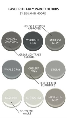 Grey Paint Colours by Benjamin Moore - Little Dekonings