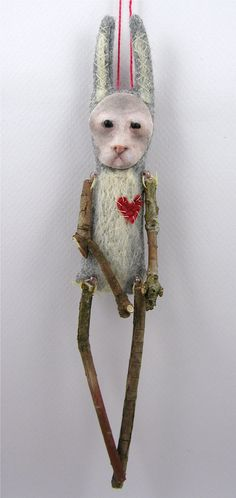 folk art doll by Cindy Riccardelli