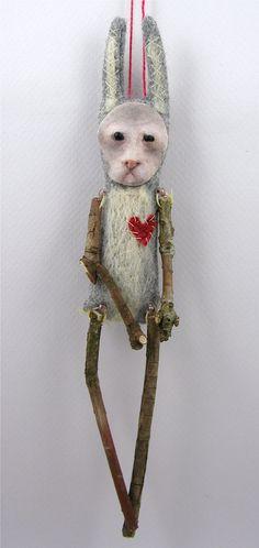 folk art doll by Cindy Riccardelli