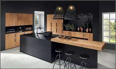 The 37 best black kitchens kitchen trends you need to see 7 Luxury Kitchen Design, Kitchen Room Design, Kitchen Cabinet Design, Kitchen Layout, Home Decor Kitchen, Interior Design Kitchen, Kitchen Designs, Kitchen Ideas, Kitchen Inspiration