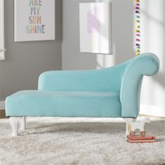 Viv + Rae Leslie Kids Chaise Lounge Color: Turquoise