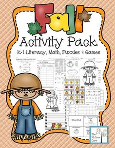 FALL Activity Pack! This set is loaded with literacy, math, games and puzzle activities to use during the Fall. $