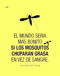 El mundo seria mas bonito si los mosquitos chuparan grasa en vez de sangre