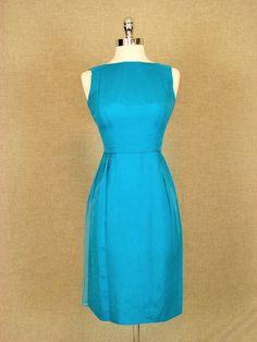 Vintage 1960s Dress / Turquoise Blue Chiffon Cocktail Dress. $110.00, via Etsy.